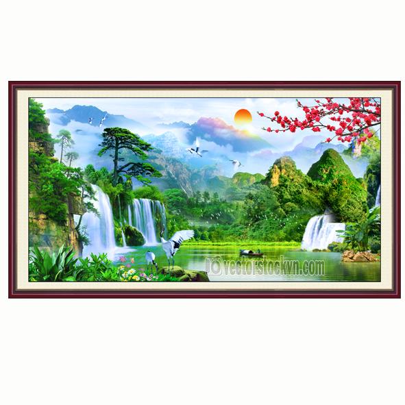 Tranh Phong Cảnh Núi Sông.