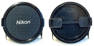 77mm Nikon Label Side Pinch Lens Cap