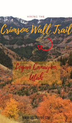 Hiking the Crimson Wall Trail, Logan Canyon