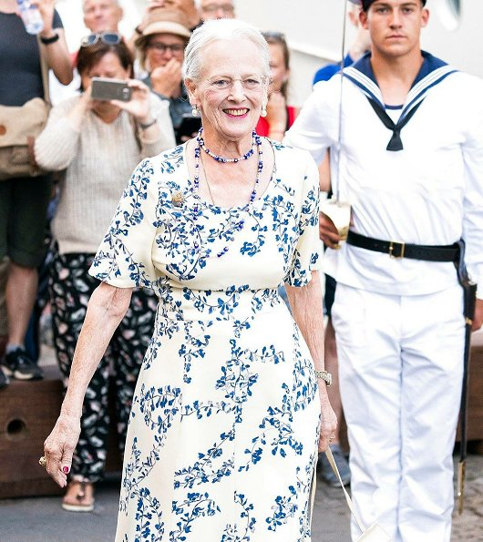 Queen Margrethe of Denmark attended gala dinner of 360th anniversary of establishment of Royal Life Guards held at Admiral Hotel in Copenhagen