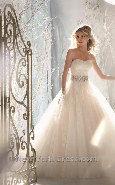 114d7426524ed فستان زفاف قمة فى الاناقة والجمال من نيويورك دريس