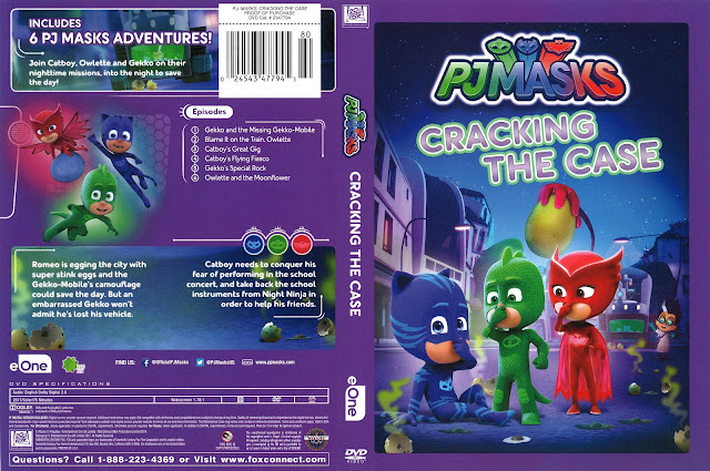 PJ Masks Cracking the Case DVD Cover
