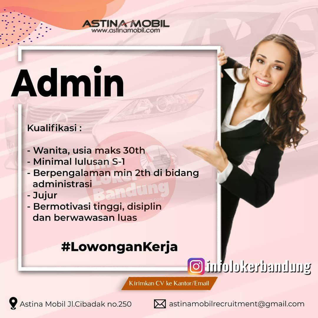 Lowongan Kerja Astina Mobil Bandung Juli 2019