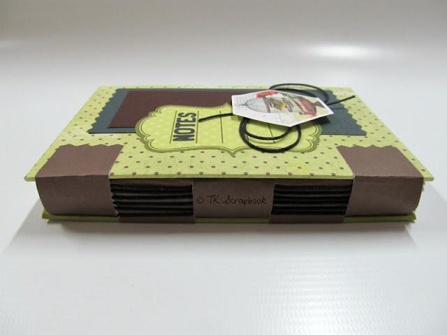 caderno scrapbook encadernacao estrutura cruzada