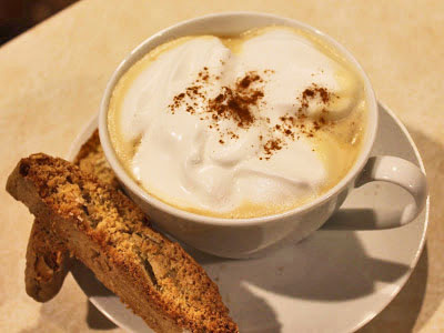 Almond Biscotti and a Latte