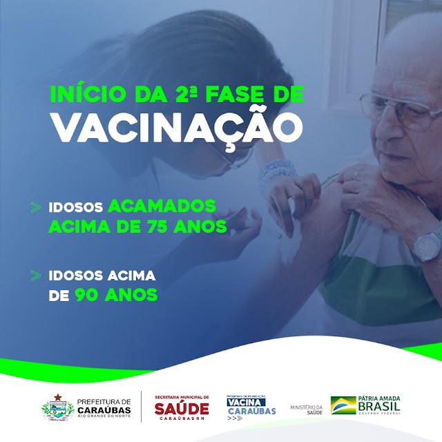 Prefeitura de Caraúbas recebe 379 doses de vacina contra Covid-19 para segunda dose e início da fase dois
