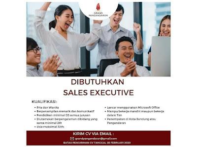Lowongan Kerja Sebagai Sales Executive Di Grand Pangandaran