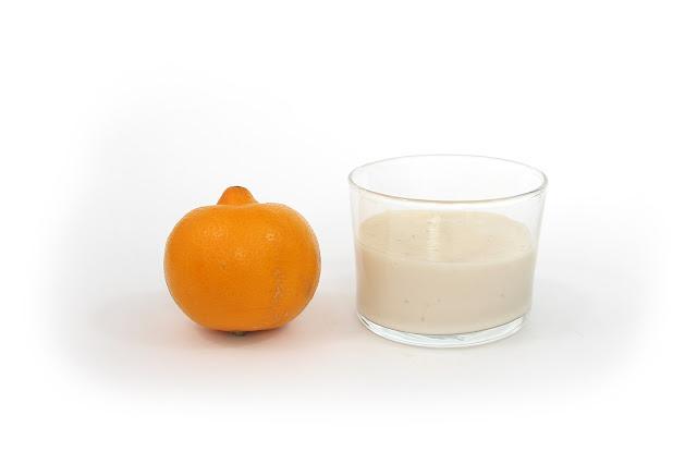 crème au lait d'amande et citron bergamote