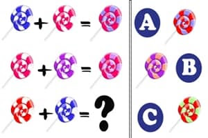 Figure: Which lollipop is the answer to the final series?
