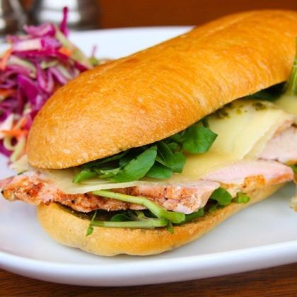 Roasted Turkey Breast and Havarti Cheese Sandwich