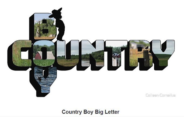 Country Girl Big Letter