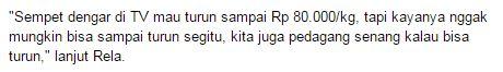 Presiden Joko Widodo Meminta Jika Harga Daging Sapi Rp 80.000 Per Kilo, Namun Para Pedagang Menjawab, Pedagang: Sekarang Masih Rp 120.000/Kg - Commando