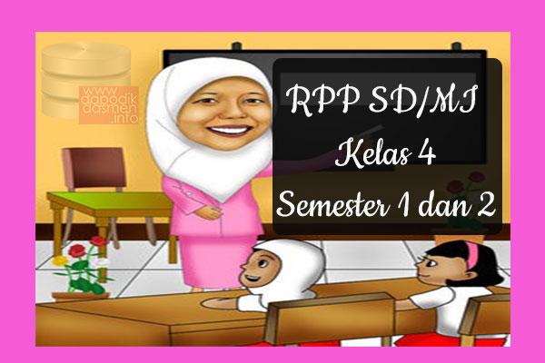 RPP Tematik SD/MI Kelas 4 Semester 1 dan 2, Download RPP Kelas 4 Semester 1 dan 2 Kurikulum 2013 SD/MI Revisi Terbaru, RPP Silabus Tematik Kelas 4