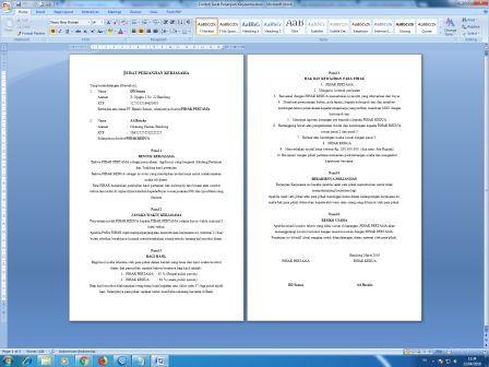 Contoh Surat Perjanjian Kerjasama Usaha Arsip Kantor