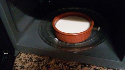 calentamos la leche
