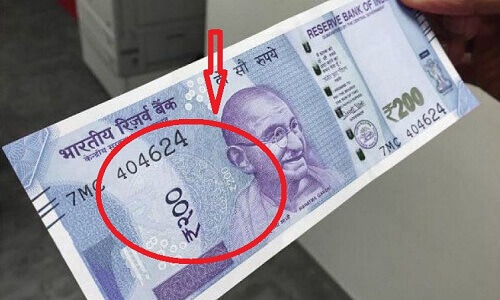 Rs 200 note which is getting viral on Social Media
