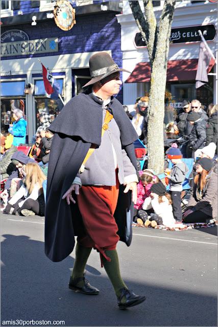 Peregrino durante el Desfile de Acción de Gracias de Plymouth