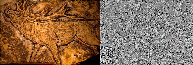 Detection of invisible elements in ancient rock engravings