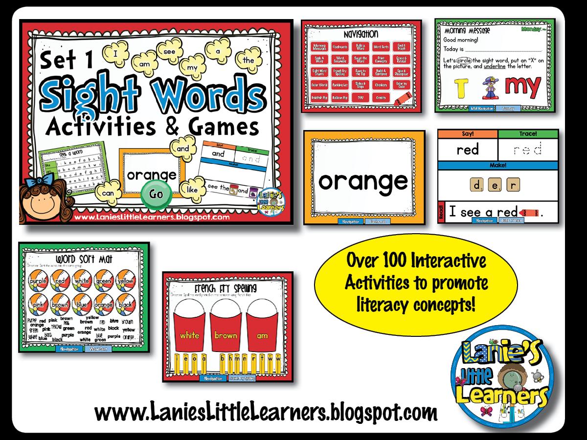 Lanie S Little Learners Set 1 Kindergarten Sight Word