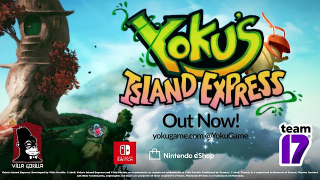 Yoku's Island Express out now Nintendo Switch demo clear