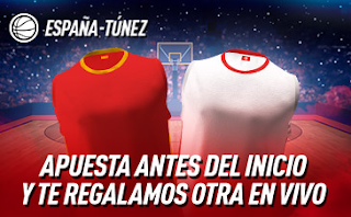 sportium Promo regalo apuesta mundial basket España vs Tunez 31 agosto 2019