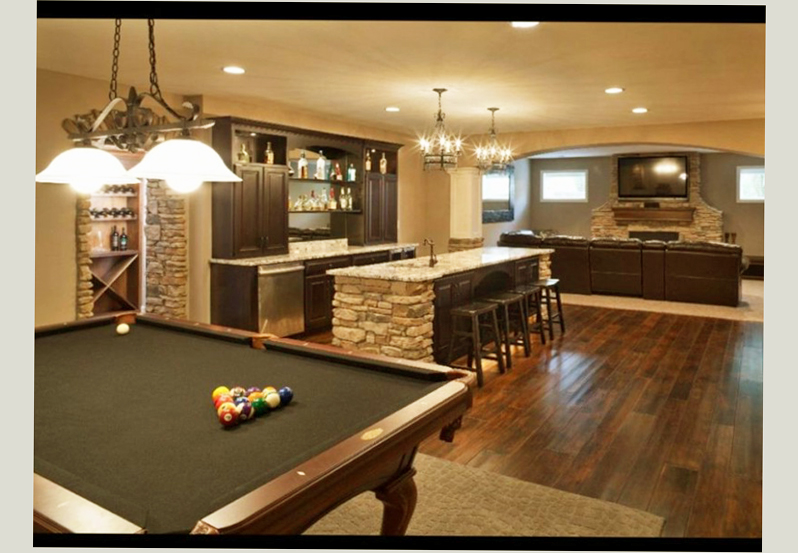 Basement Designs Ideas Man Cave - Ellecrafts