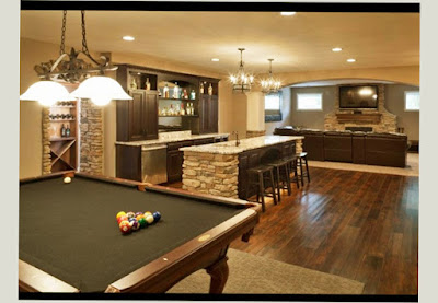Bilyard Table and Shinny Floor for Basement Man Cave Ideas Cheap Best Picture