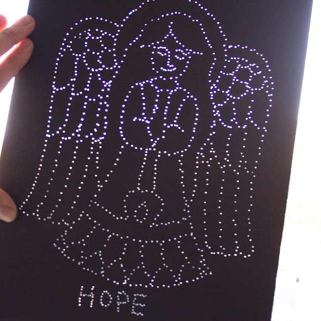 How to Make Christmas Pin Prick Angel Art with Kids