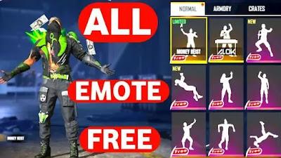 طريقة الحصول على جميع رقصات فري فاير مجانا Free Fire