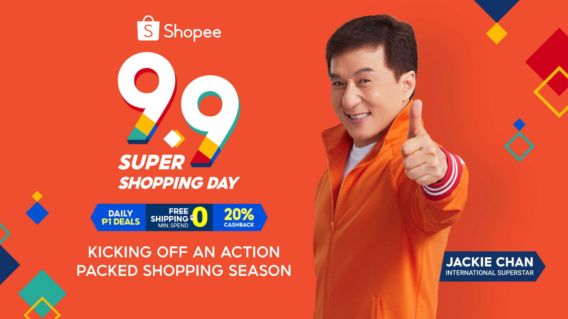 Jackie Chan, Shopee Celebrity Ambassador for 9.9 Super Shopping Day