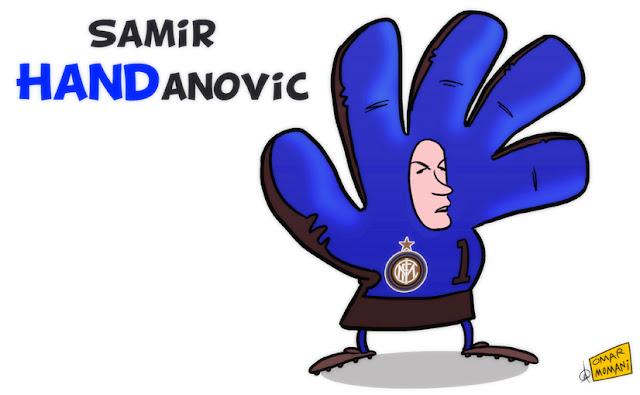 Samir Handanović cartoon