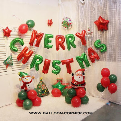 Balon Foil Huruf MERRY CHRISTMAS