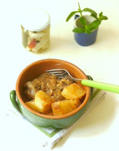 cucina di Amorgos. Patatato
