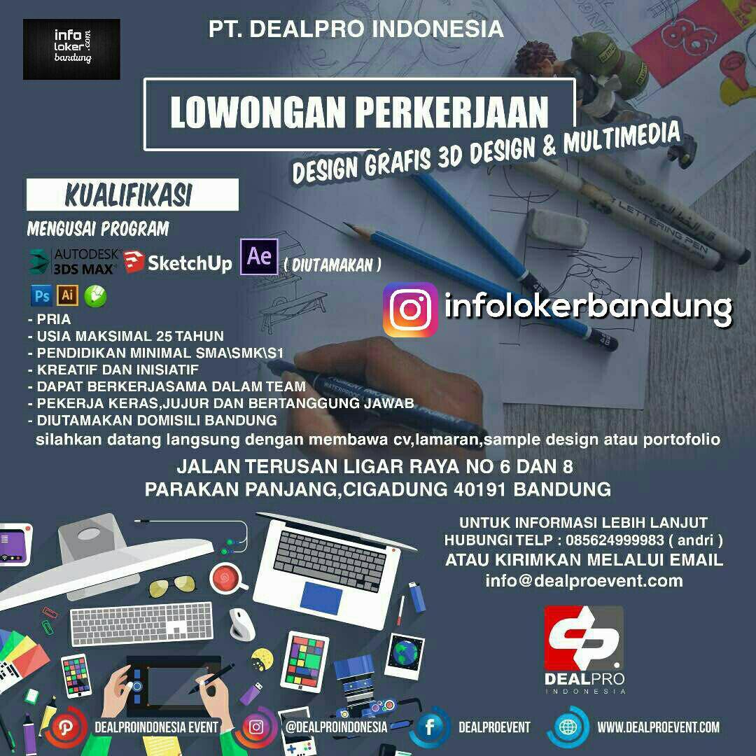 Lowongan Kerja PT. Dealpro Indonesia Juni 2017