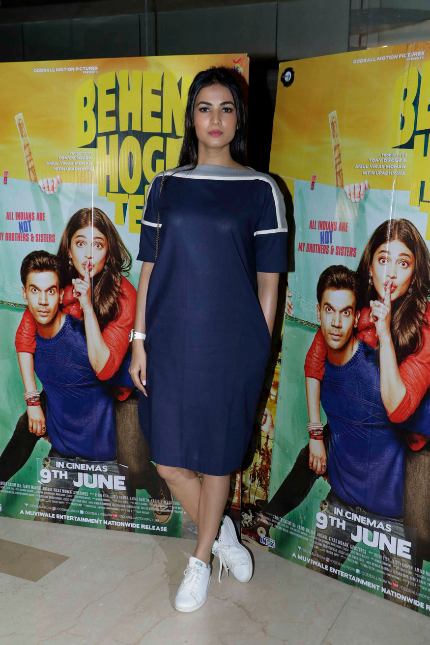 Sonal Chauhan Attends The Screening of Behen Hogi Teri at PVR - ICON