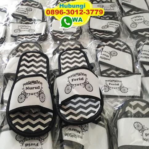 jual sandal hotel bermotif zigzag reseller 50579