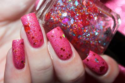 "Swatch of the nail polish ""TenderHeart"" from Enchanted Polish"