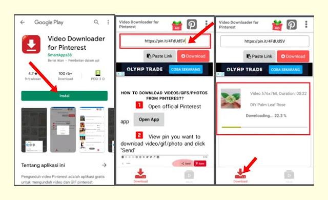 cara download vidio pinterest menggunakan aplikasi android