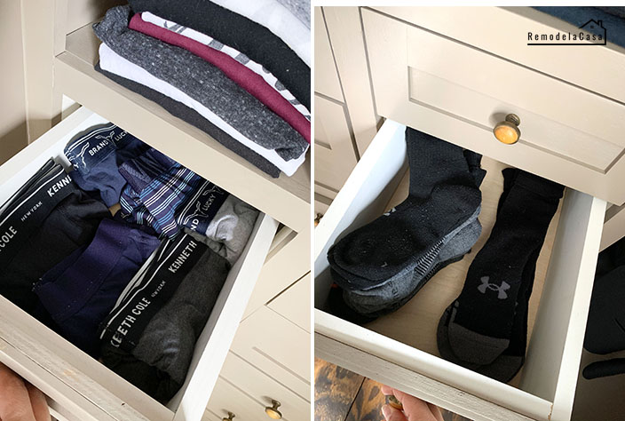 drawer organization - closet