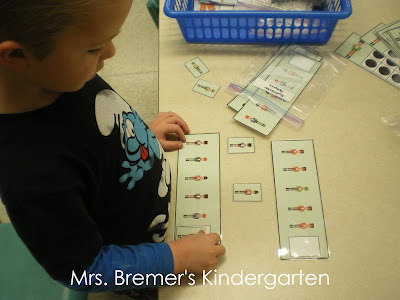 Nutcracker themed math centers perfect for Kindergarten at Christmas! Packed with hands on math activities for practice with measurement, counting, graphing, 10 frames, number printing, and patterns. #kindergarten #kindergartenmath #math #christmascenters #christmasmath #centers #mathcenters