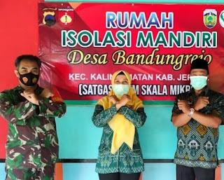 Babinsa Desa Bandungrejo Cek Rumah Isolasi Mandiri Di Posko PPKM