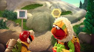 Elmo imagines himself as a mountain climber, Elmo the Musical Mountain Climber the Musical. Sesame Street Episode 4418 The Princess Story season 44