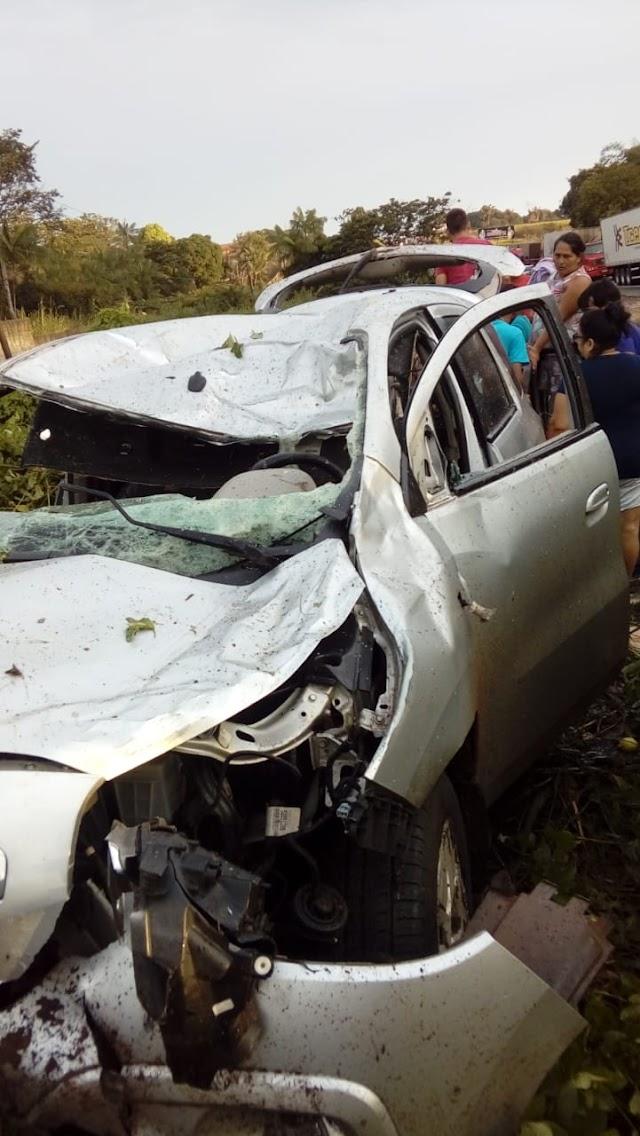 Guamaense sofre acidente de transito na BR 316
