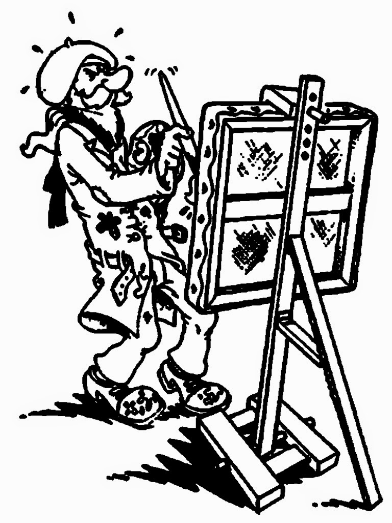 artist coloring pages free
