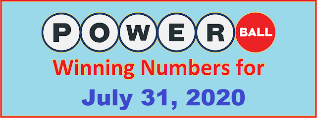PowerBall Winning Numbers for Saturday, July 31, 2021