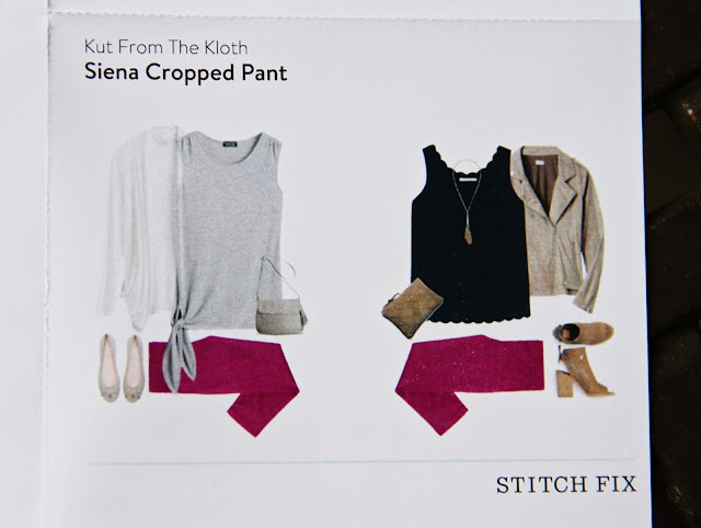 Stitch Fix Kut From The Kloth Siena Cropped Pant style card