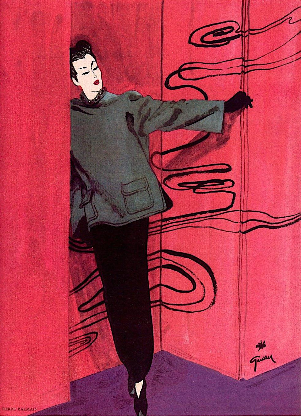 a René Gruau fashion illustration