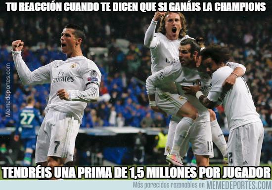 La increíble prima a los jugadores del Madrid si ganan la Champions
