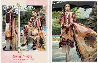 Asifa Nabeel Lawn Collection Vol 3 Cambric Pakistani Suits