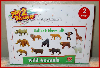 2 Pack; 2 Pack Wild Animals; Animal Toys; Ape; Developing Little Minds; Imagination; Leopard; Lioness; Monkey; Play 2 Discover; Play2Discover; Polar Bear; Poundland; PVC Figurines; PVC Vinyl Animals; Rhinoceros; Small Scale Tank; smallscaleworld.blogspot.com; Toy Animals; Wild Animal 2 Pack; Wild Animals;